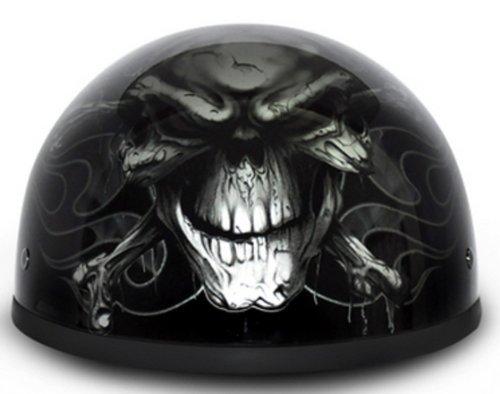 DOT Daytona Skull Cap- W Cross Bones Motorcycle Helmet Size Large