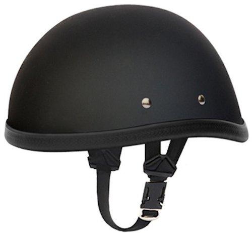 Daytona Eagle Flat Black Skull Cap Novelty Motorcycle Helmet Medium