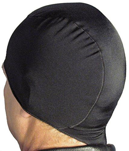WickIt TM Motorcycle Helmet Liner - Skull Cap - Doo Rag in Classic Black
