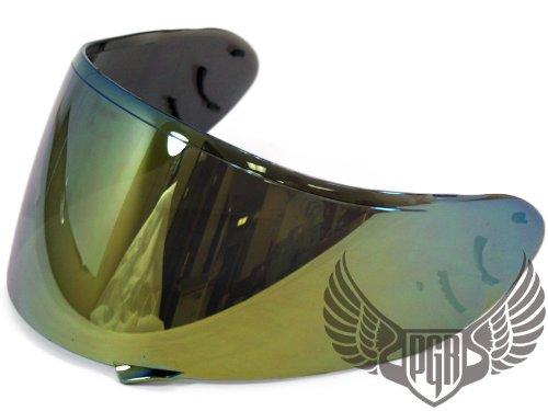 Gold Shoei Cw-1 Helmets Replacement Shield Visor X-12 Rf-1100 Qwest Xr-1100 X-spirit2 Helmets