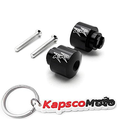 Krator Black Honda RR Engraved Bar Ends Weights Sliders - CBR 600 900 929 954 1000 RR and More 1987-2013  KapscoMoto Keychain