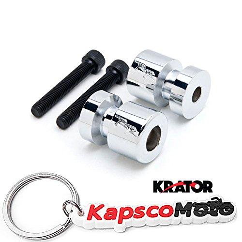 Krator Chrome Engraved Swingarm Spools Sliders For Honda CBR 600 250 954 1000 RR RC51 Chrome Swingarm Spools Sliders Motorcycle Bobbins  KapscoMoto Keychain