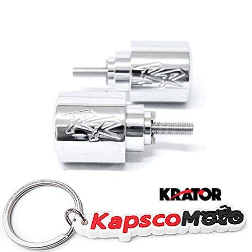 Krator Silver Honda RR Engraved Bar Ends Weights Sliders - CBR 600 900 929 954 1000 RR and More 1987-2013  KapscoMoto Keychain