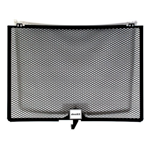 Dieci83 Aluminum Radiator Guard Cover Protector Grille for Honda CBR 600RR 2007-2015 Black