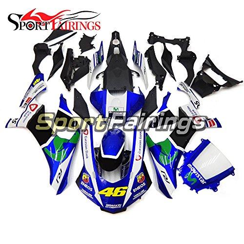 Sportfairings Full Fairing Kit For Yamaha YZF1000 YZF 1000 R1 15-16 Year 2015 2016 Vale 46 Blue Spoilers Cowls