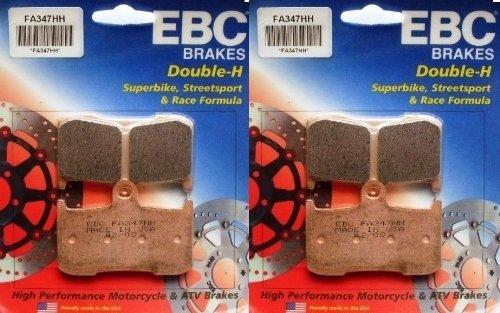 2006-2008 Triumph Daytona 675 EBC Sintered Double H Front Brake Pads 2 Sets FA347HH