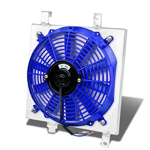 Acura Integra MT Aluminum Bolt-on Cooling Radiator Fan Shroud Blue - DA9 DB1 DB2
