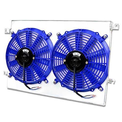 Scion tC MT Aluminum Bolt-on Cooling Radiator Fan Shroud Blue - 1st Gen ANT10