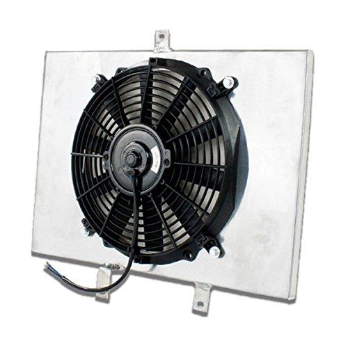 Scion xB MT Aluminum Bolt-on Cooling Radiator Fan Shroud Black - 1st Gen