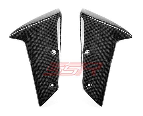 Kawasaki ZX6R 2005-2008  ZX10R 2004-2007  Z1000 2007-2009 Carbon Fiber Front Fender Side Arm Panel Trim Cover Fairings