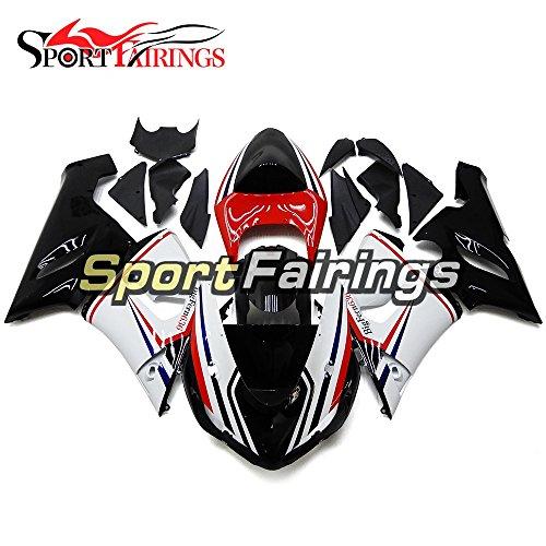 Sportfairings ABS Plastics Injection Motorcycle Fairing Kits For Kawasaki ZX6R Ninja636 Year 2005 2006 Red Black Bodywork Motorbike Cowling