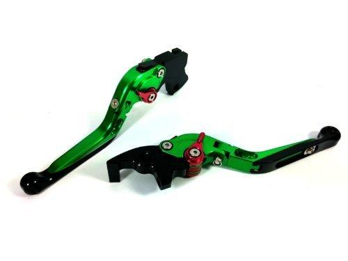 CTG Extend FOLD FOLDING Clutch Brake Levers for KAWASAKI ZX9R 2000-2003-Green