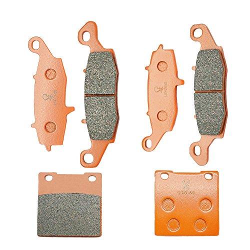 Lefossi Front Rear Carbon Fiber Brake Pads Brakes for Suzuki GSF 600 Bandit 00-04 GSX 600 F GSX 750 F Katana 98-06 FA229F FA231F FA063R