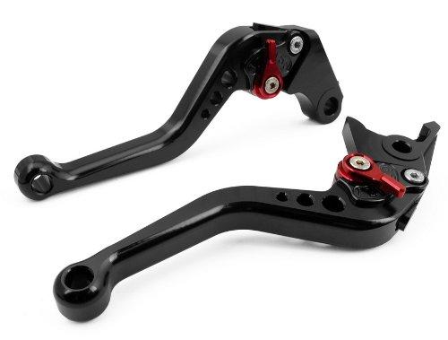 LUO CNC Short Brake Clutch Levers for Suzuki GSF1200 Bandit 2001-2006GSF1250 Bandit 2007-2015Bandit 650S 2015GSF650 Bandit 2007Suzuki GSX650F 2008-2015TL1000R 1998-2000-Black