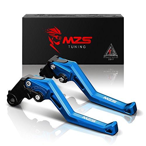 MZS CNC Brake Clutch Levers for Suzuki TL1000R SV1000 S BANDIT 650 1200 1250 GSF650 GSF650S GSF1200 GSF1250 GSF1250S GSX1250 F SA DL1000 V-STROM GSX1400 GSX650F KATANA HAYABUSA GSX1300R 99-07 Blue