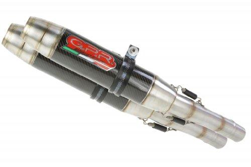 Suzuki GSXR 1000 09-11 GPR Exhaust Systems Deeptone Carbon Look Dual Slipon Mufflers Unrestricted Power