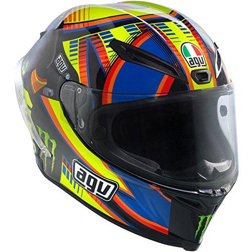 AGV Corsa Adult Double Face Winter Test LE Rossi Street Motorcycle Helmet - YellowBlackBlue  Small