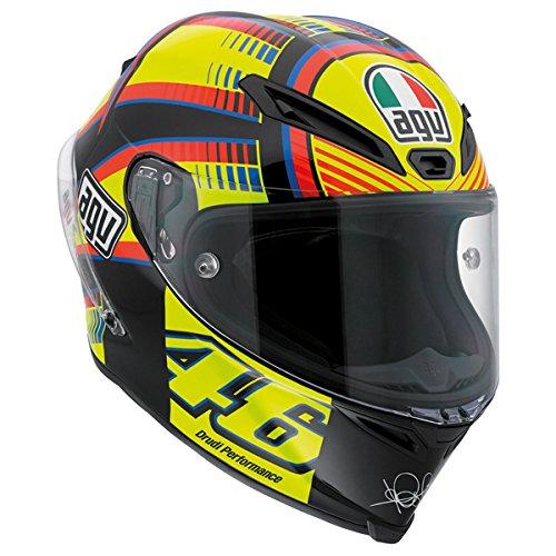 AGV Corsa Adult Sole Luna Rossi Street Motorcycle Helmet - YellowBlackBlue  X-Large