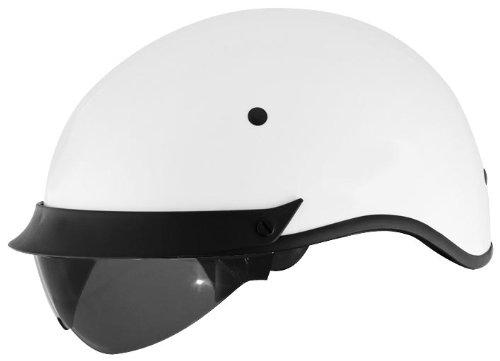 Cyber Helmets U-72 Solid Helmet  Helmet Type Half Helmets Helmet Category Street Distinct Name White Primary Color White Size Sm Gender MensUnisex 640861