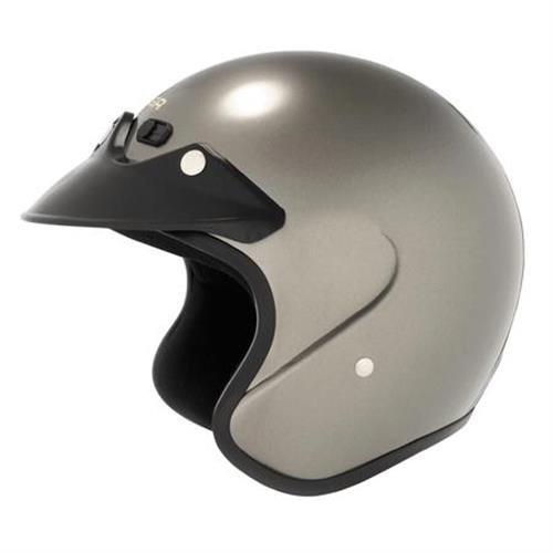 Cyber U-6 Open-Face Motorcycle Helmets - Dark Silver - X-Large