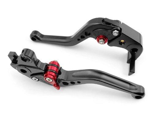 A pair of Short Billet Aluminum Clutch Brake Levers Motorcycle Set Black for Suzuki HAYABUSAGSXR1300 1999 2000 2001 2002 2003 2004 2005 2006 2007 S-14F-14