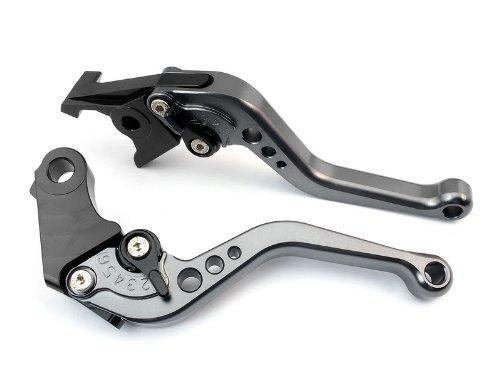 A pair of Short Billet Aluminum Clutch Brake Levers Motorcycle Set Gray for Honda CBR600RR 2007 2008 2009 2010 2011 2012 Y-688HF-33