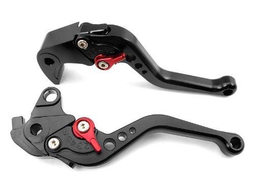 ATAC pair of Short Billet Aluminum Clutch Brake Levers Motorcycle Set Black for Suzuki HAYABUSAGSXR1300 1999 2000 2001 2002 2003 2004 2005 2006 2007