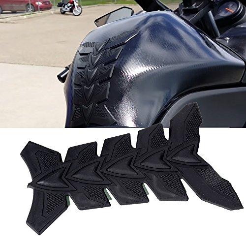 1pcs Motorcycle 3D Black Rubber Pattern Tank Protector Cover Pad for Honda Suzuki Kawasaki Yamaha Harley