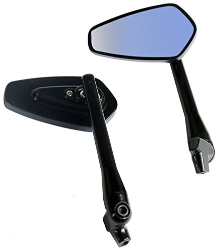 One Pair Black Arrow Rear View Mirrors for 2005 Harley-Davidson Softail Deuce FXSTD