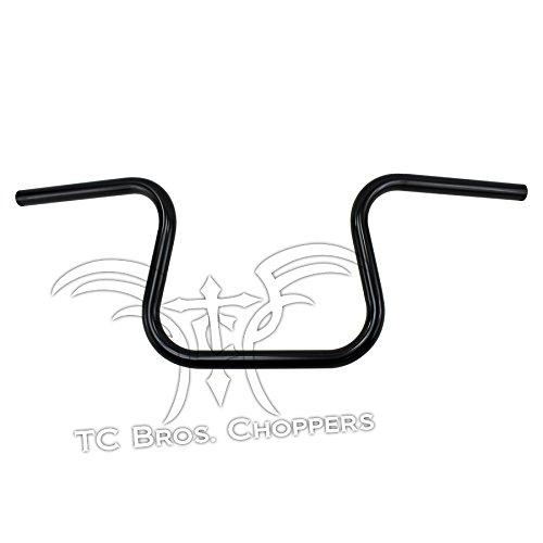 TC Bros 1 Lane Splitter Handlebars - Black Dimpled