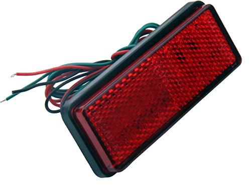 1 PC Red Retangle Reflector LED Rear Tail Brake Stop Lights for 2001 Honda Goldwing 1800 GL1800