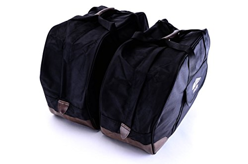Bestem LGHO-GL18H-SDL Black Saddlebag Liners for Honda Gold Wing GL1800 Pair