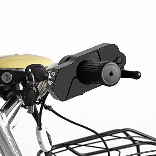 Motorcycle Grip Lock AOZBZ Security Throttle  Brake  Handlebar Locks One Push to Lock for Bike Scooter Moped ATV Black