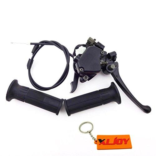 XLJOY Thumb Throttle Brake Lever Cable Hand Grips For 50cc 110cc 125cc 4 Wheelers ATV Quad