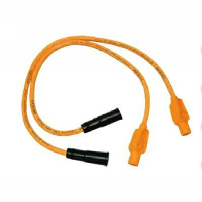 Sumax 8mm Orange Colored Plug Wires for Harley 99-08 FLHTFLHRFLTRFLHX with Fuel Injection C01095683