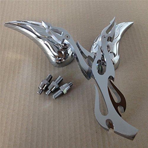 Alloy Teardrop Flame Custom Mirror Kawasaki Ninja 500 All Year Models Chrome