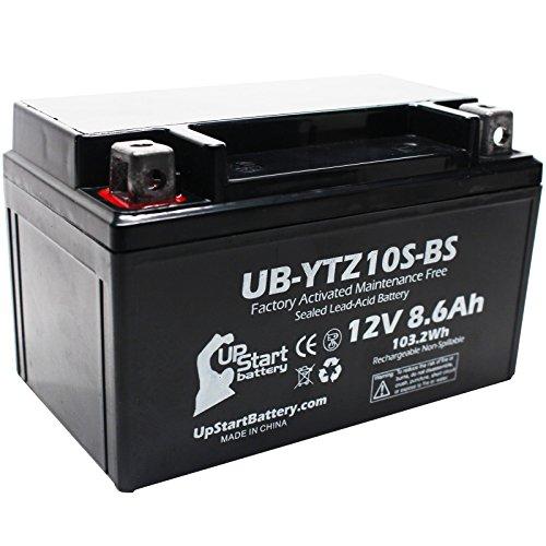 YTZ10S-BS Battery Replacement 86Ah 12v Sealed Factory Activated Maintenance Free Battery Compatible with - 2015 Yamaha FZ-07 2006 Honda CBR1000RR 2007 Honda CBR1000RR 2015 Yamaha FJ-09