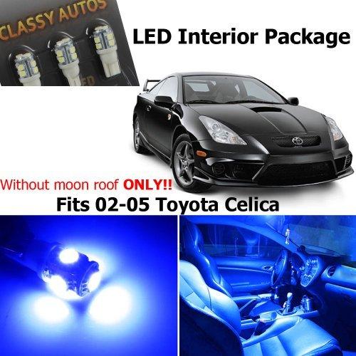 Classy Autos Toyota Celica BLUE Interior LED Package 6 Pieces