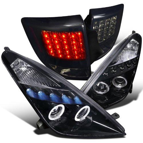 Glossy Black Celica Projector HeadlightsLed Tail Lights Dark Smoke Lens