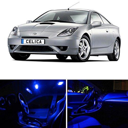Toyota Celica 2000-2005 Blue Premium LED Interior Lights Package Kit 4 Pieces
