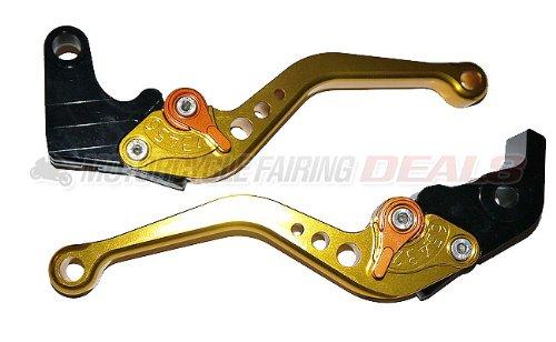 Yamaha R6 2005 - 2013 Adjustable Shorty Brake Clutch Lever Gold