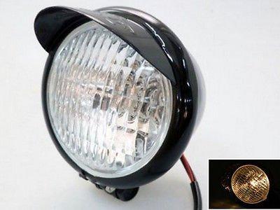 55 Black Motorcycle Headlight For Cruiser Chopper Cafe Racer Bobber Custom new