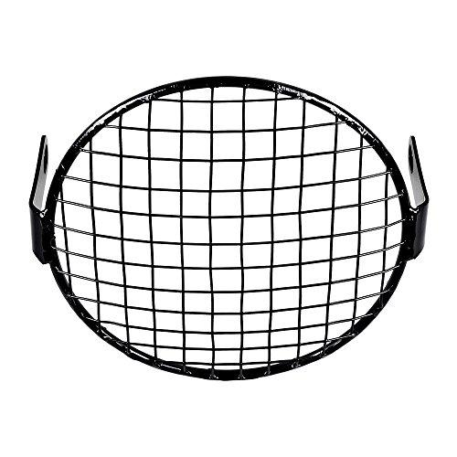 6 12 Wire Mesh Headlight Mask Grille Cover Black Halogen Stone Guard for Cafe Racer Bobber