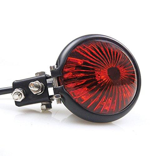 Black LED Bates Style Stop Brake Tail light for Honda Harley Kawasaki Yamaha Suzuki Cafe Racer Bobber Custom