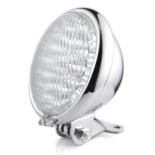 Motorcycle 5 Chrome 30 LED Headlight Head Lamp Bracket Set For Harley Honda Cruiser Cafe Racer Bobber
