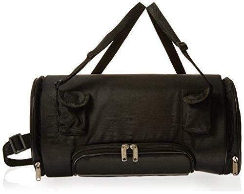 16 x 13 Waterproof Black Reflective Cordura Textile Sissy Bar Motorcycle Roll Cooler Bag