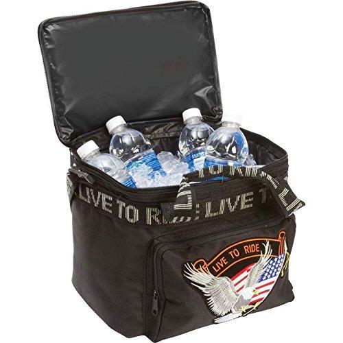 BNFUSA LUMCOOLTR Motorcycle Cooler Bag With Hook Loop Sissy Bar Strap