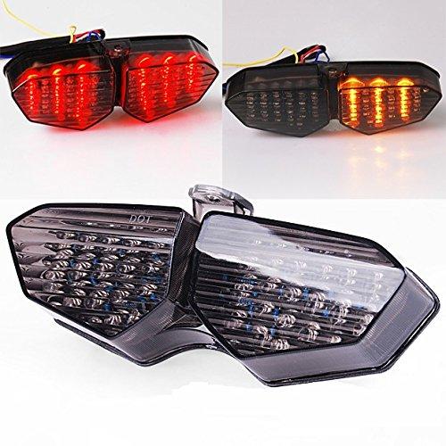 Smoke LED Tail Light Turn Signals Brake Lamp For Yamaha YZF 2003-2005 R6  2006-2008 R6S
