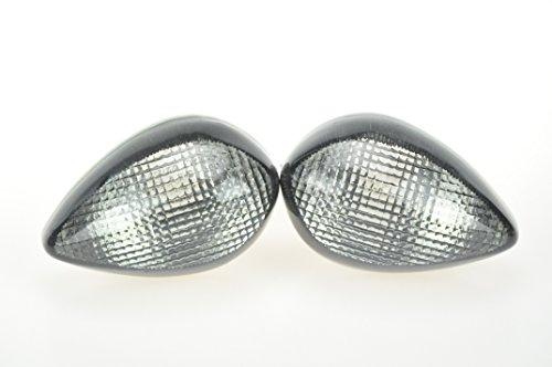 Topzone Moto Smoked Motorcycle Indicators Turn Signal Lens For Yamaha 2002-2006 R1 2009-2010 R1 2003-2005 R6 2006-2010 R6S 2004-2009 FZ6 2006-2010 FZ1