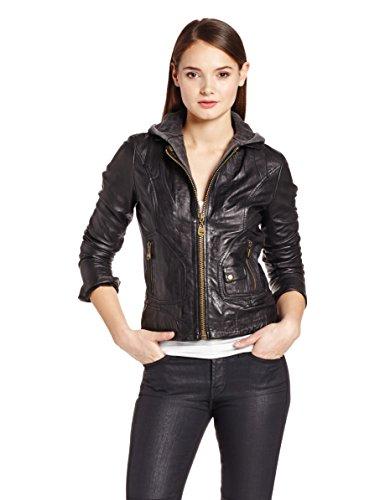 Doma Women's Vintage Moto Jacket With Hood